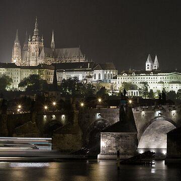 Prague at night - Charles Bridge  by Artanis