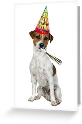 Jack russell terrier birthday greeting cards by cafepretzel redbubble jack russell terrier birthday by cafepretzel bookmarktalkfo Image collections