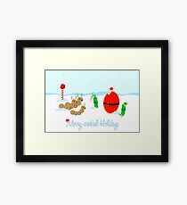 Merry-crobial Holiday Greetings Framed Print