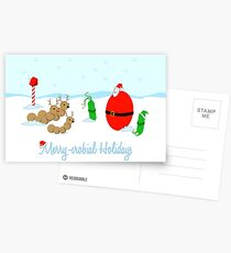 Merry-crobial Holiday Greetings Postcards