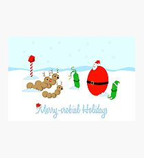 Merry-crobial Holiday Greetings Photographic Print