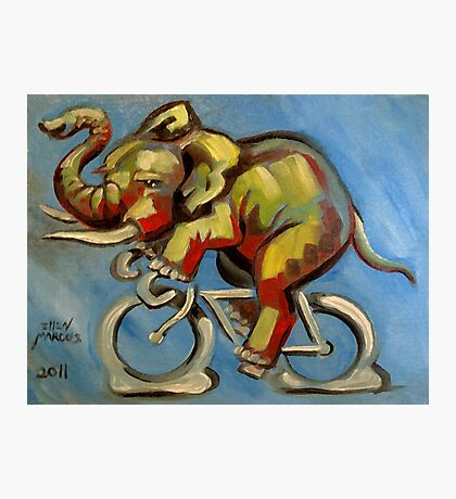 Elephas Maximus on a Bicycle Photographic Print