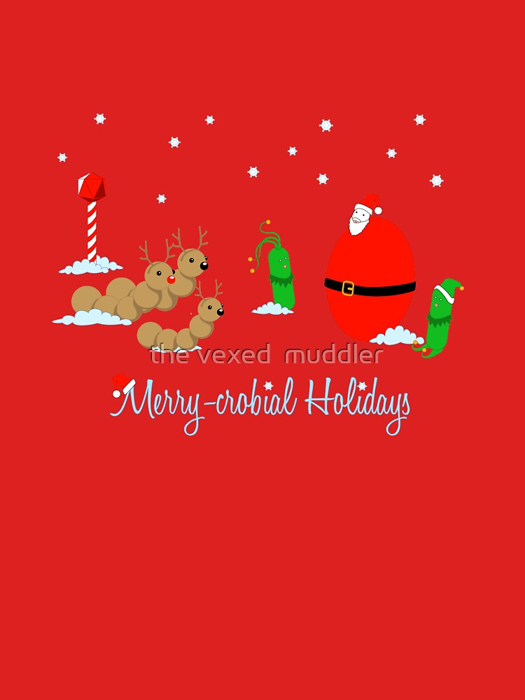 Merry-crobial Holiday Greetings by thevexedmuddler