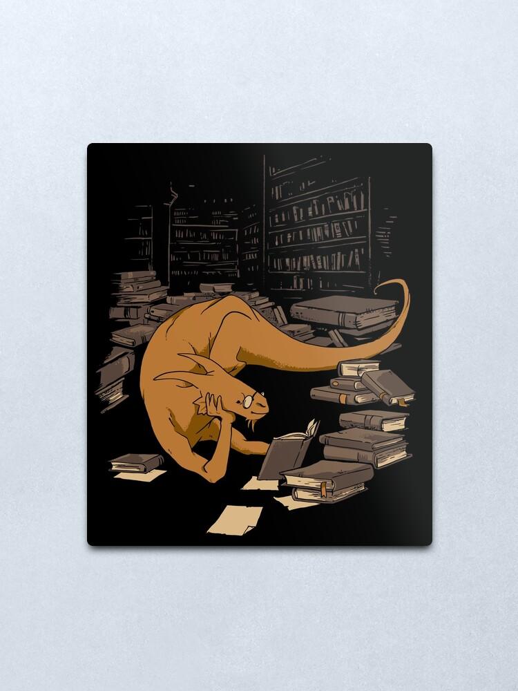 Alternate view of The Book Wyrm Metal Print