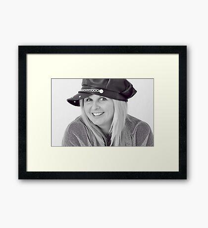 Cheeky Miss Framed Print