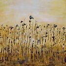 Sunflower heads by Linda Ridpath