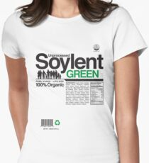 Contents: Unprocessed Soylent Green Women's Fitted T-Shirt