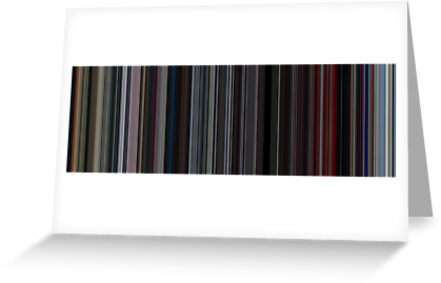 Moviebarcode: 2001: A Space Odyssey (1968) [Simplified Colors] by moviebarcode