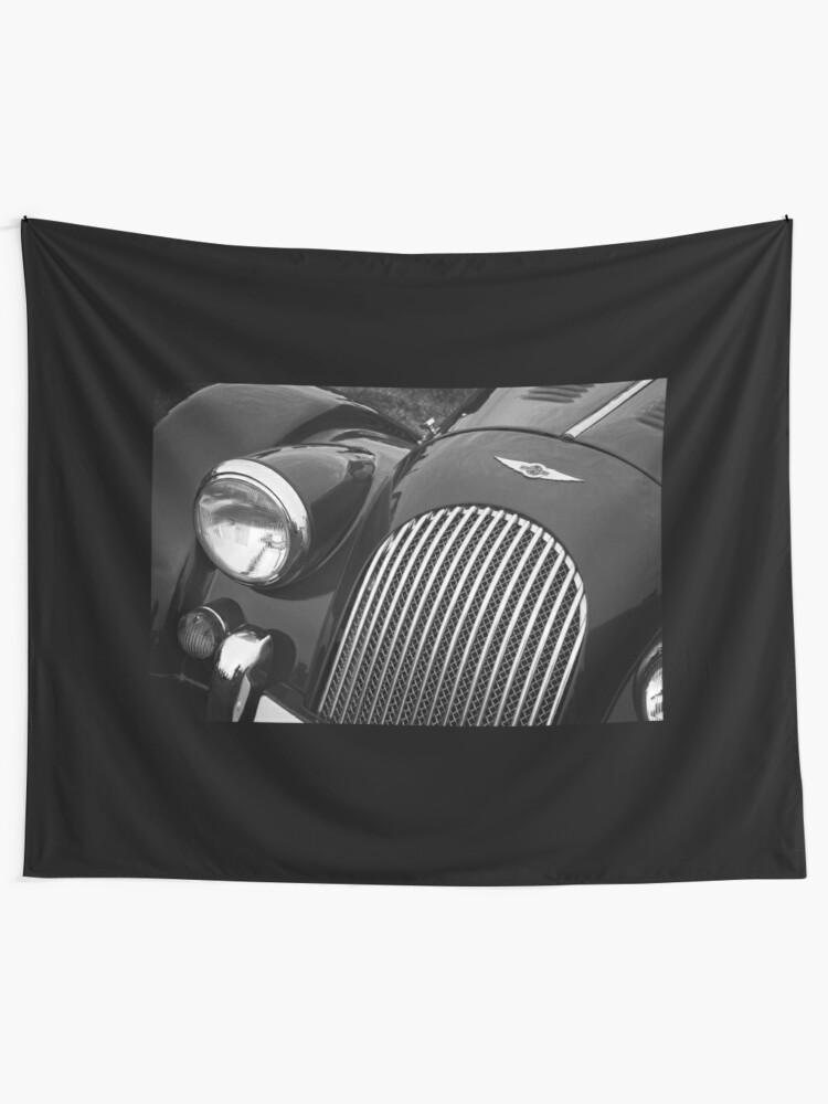 Alternate view of Morgan Sports Car Front Detail Tapestry