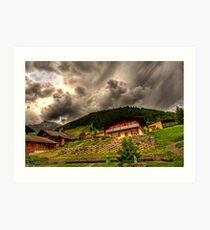 Typical Swiss house,Gerindlwald Art Print
