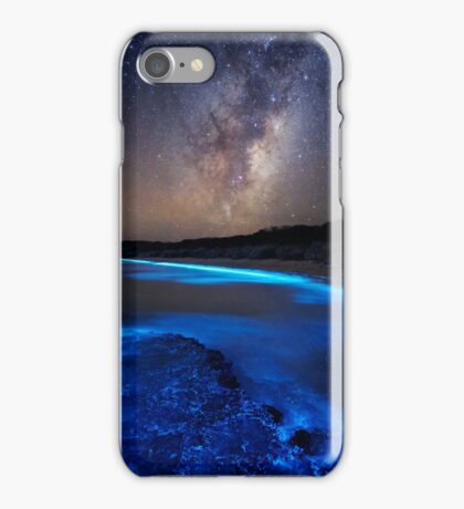 Milky Way Over Sea Sparkle Bay iPhone Case/Skin