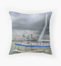 A boat with a special task Throw Pillow