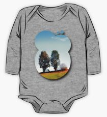 Twin trees and a bush One Piece - Long Sleeve