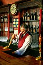 The Barman at the United States Hotel  by Christine Smith
