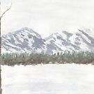 Mountain Landscape by Linda Ursin