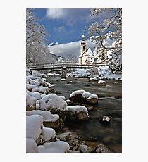 Ramsau Chapel with Snow, December 1985 #2 Photographic Print