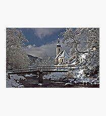 Ramsau Chapel with Snow, December 1985 #3 Photographic Print