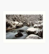 Zauberwald Stream - Winter 1985 Art Print