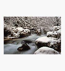 Zauberwald Stream - Winter 1985 Photographic Print
