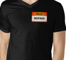 NAMETAG TEES - MUFASA Mens V-Neck T-Shirt