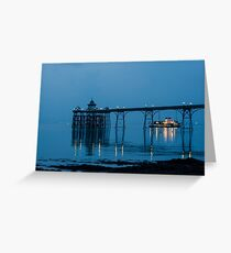 The Paddlesteamer Waverley leaves Clevedon Pier Greeting Card
