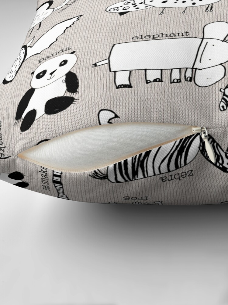 Alternate view of Baby Zoo  Throw Pillow