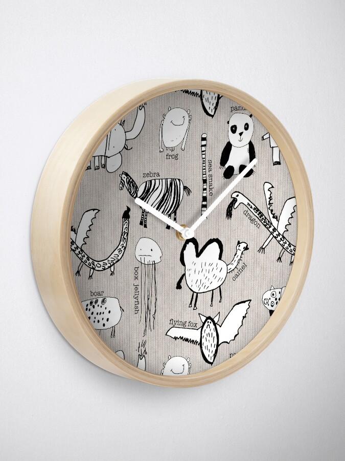 Alternate view of Baby Zoo  Clock