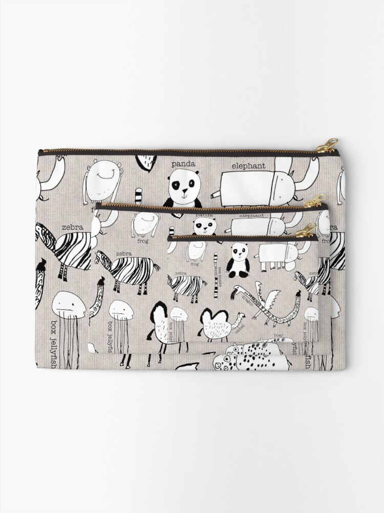 Alternate view of Baby Zoo  Zipper Pouch