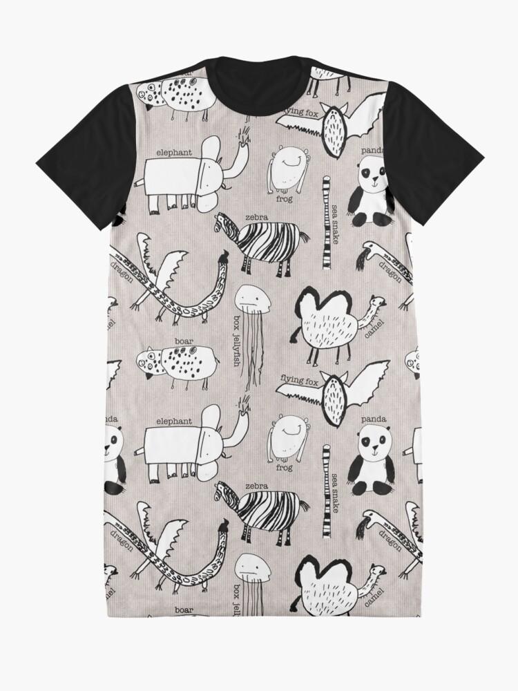 Alternate view of Baby Zoo  Graphic T-Shirt Dress
