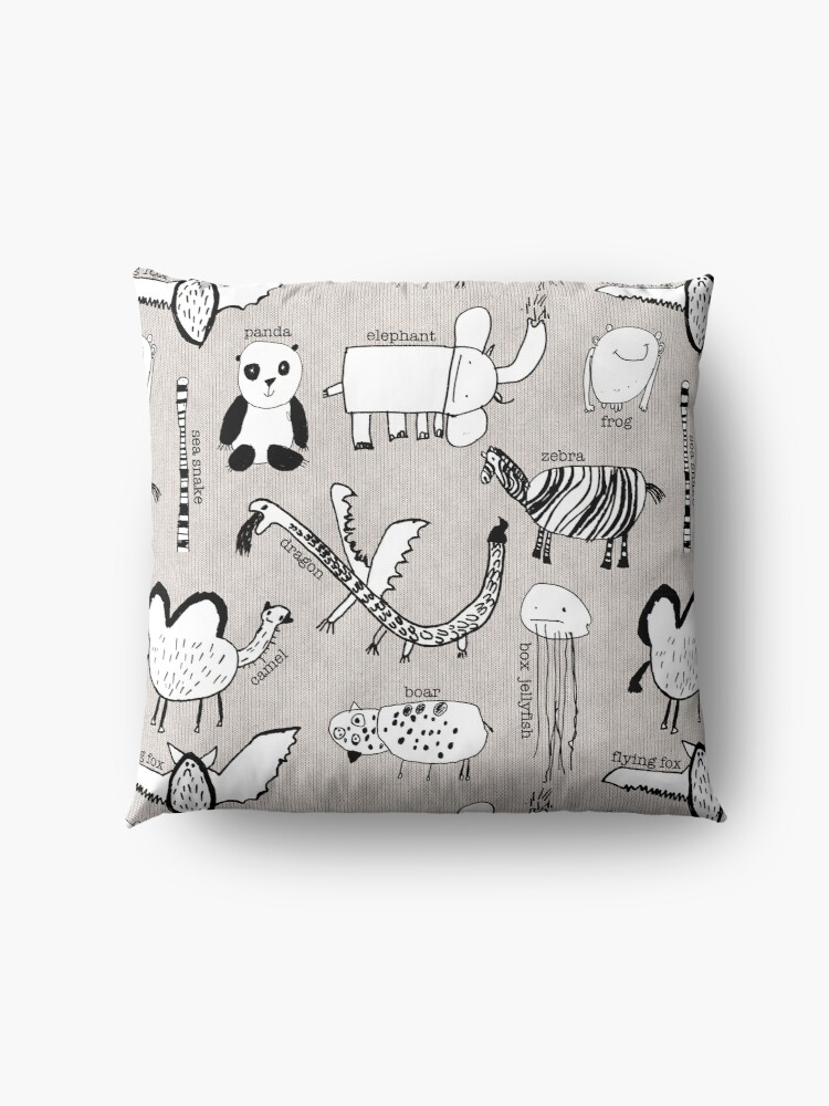 Alternate view of Baby Zoo  Floor Pillow