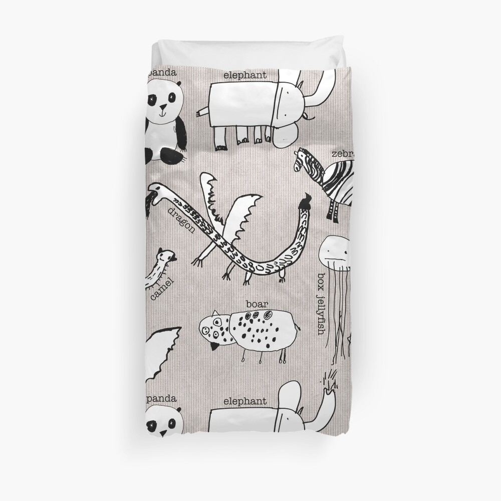 Baby Zoo  Duvet Cover