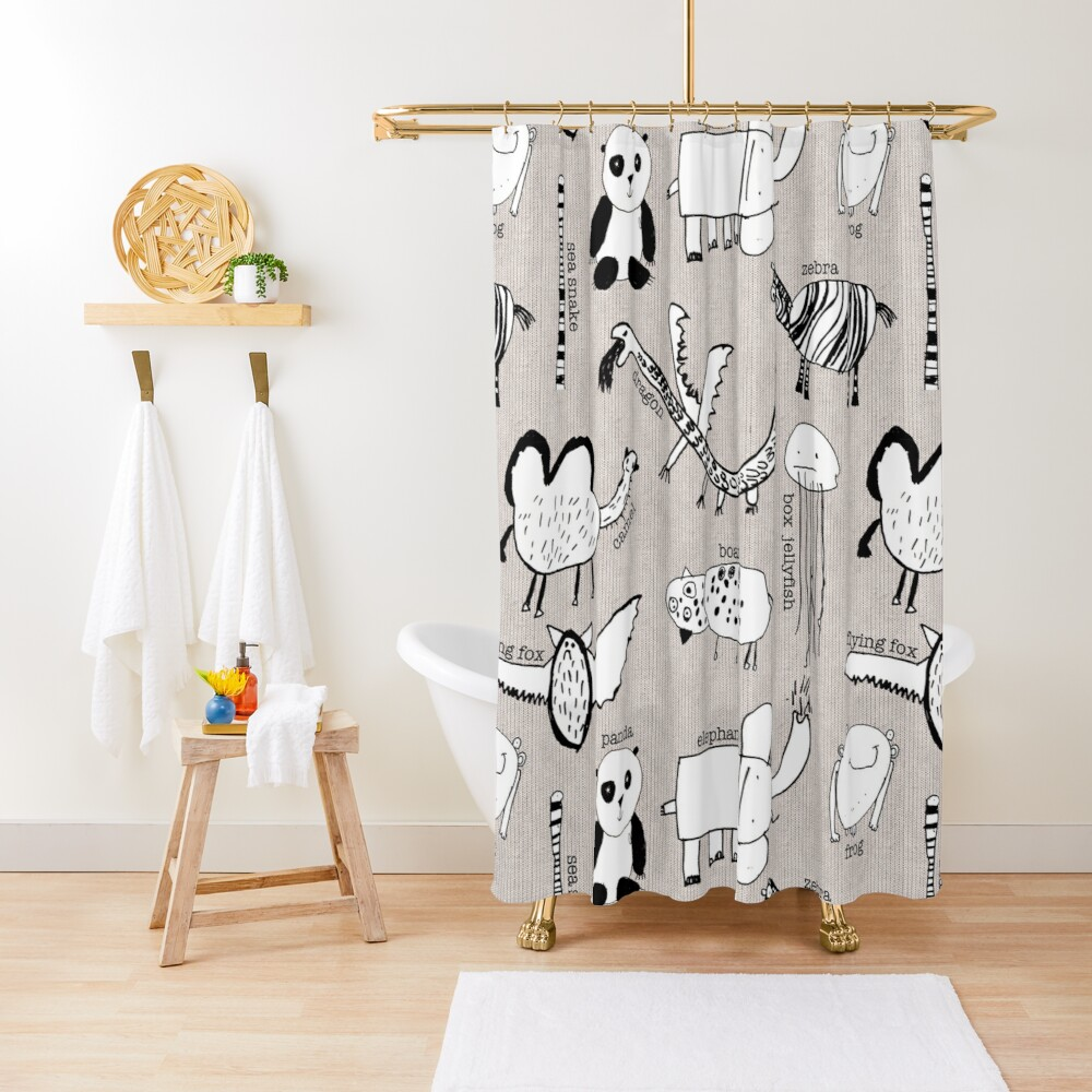Baby Zoo  Shower Curtain