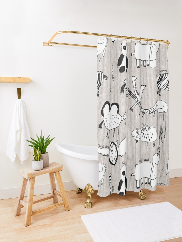 Alternate view of Baby Zoo  Shower Curtain