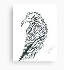 Raven Totem Canvas Print