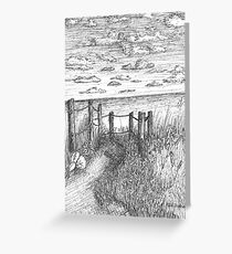This Way To Beach Greeting Card