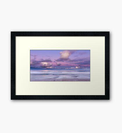 Port Fairy East Beach Pastel Dusk Framed Print