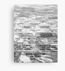 Memorial to Fallen Soldiers Canvas Print