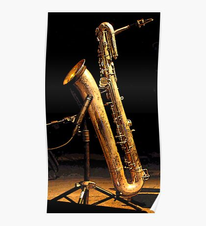 Baritone sax Poster