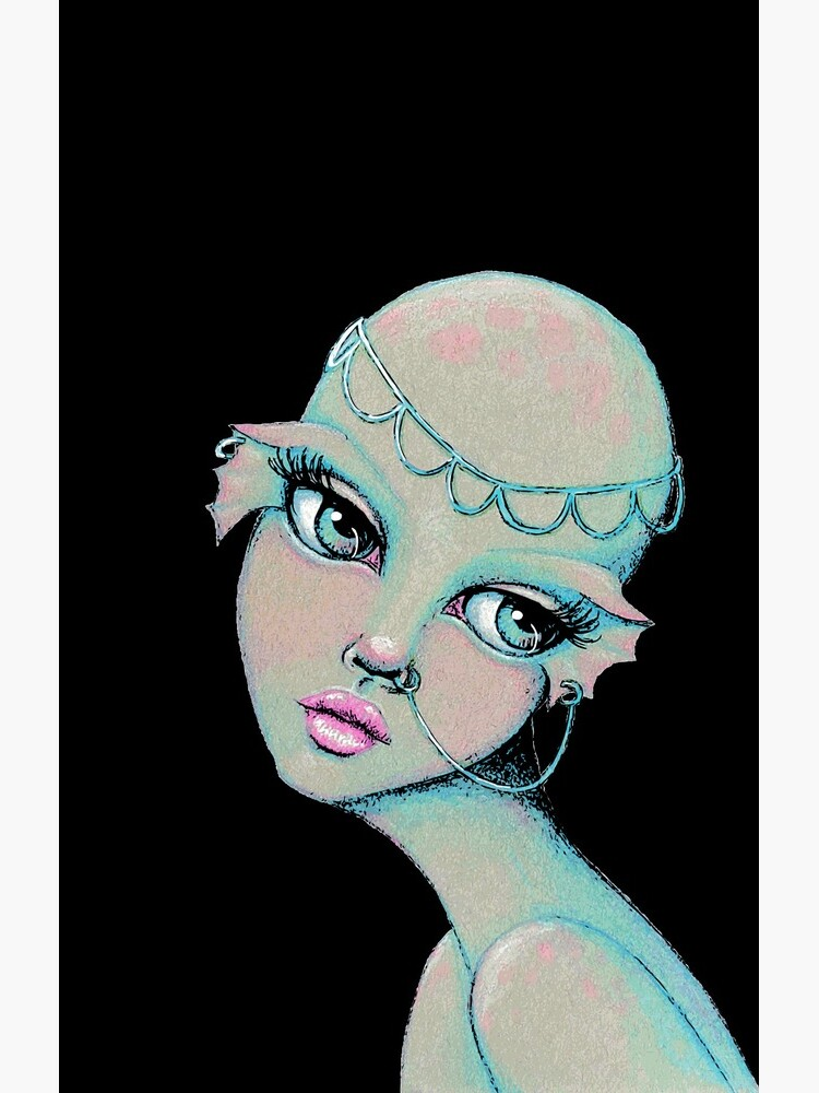 Bald & Beautiful Mermaid by LittleMissTyne