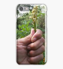 Flowers Bud in Hand iPhone Case/Skin