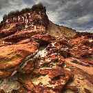 Odd color rocks near Forest Caves Phillip Island by Philip Greenwood