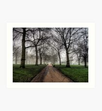Fog in Green Park, London Art Print