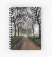 Fog in Green Park, London Spiral Notebook