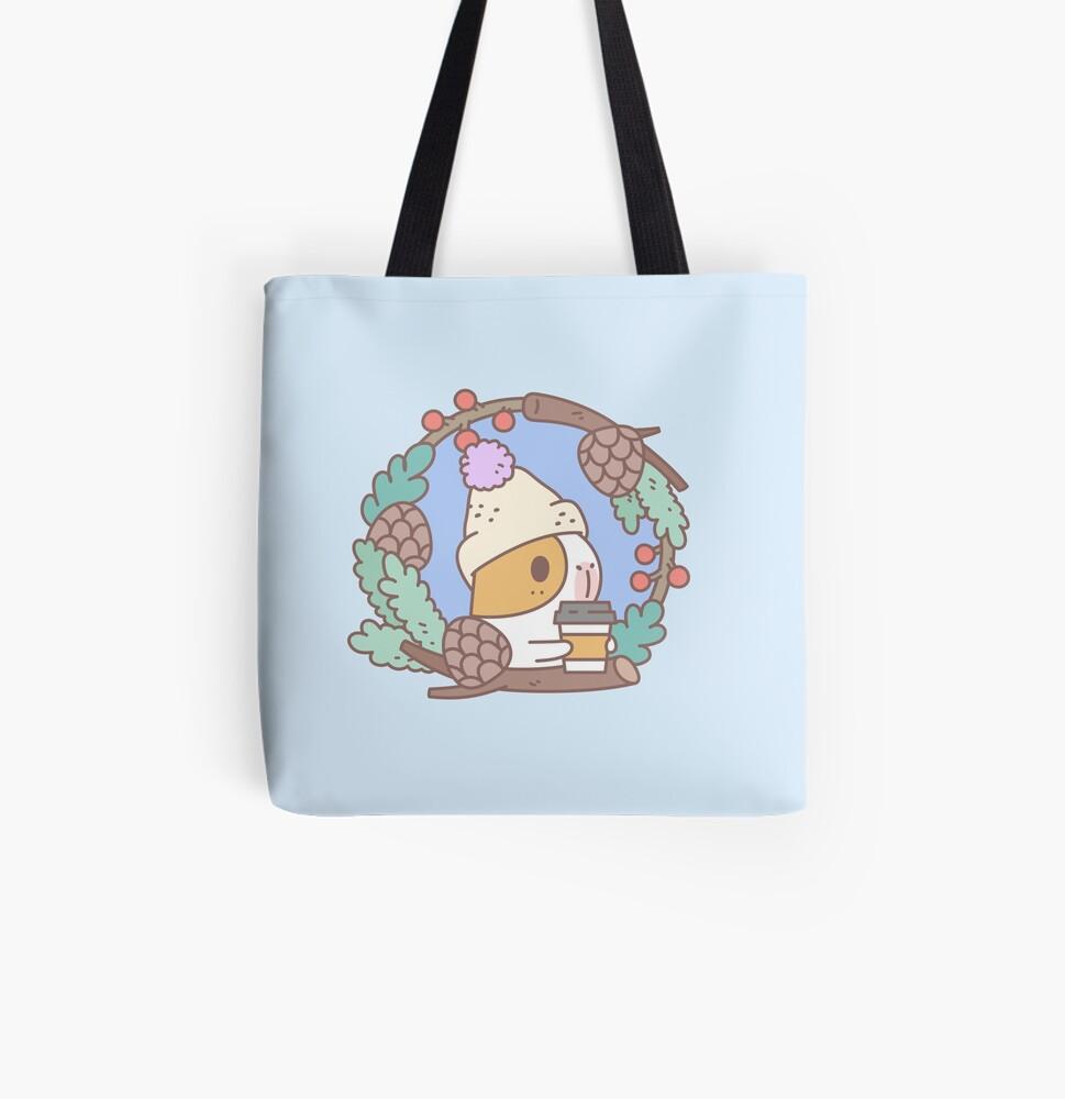 Bubu the Guinea pig, Fall Coffee  All Over Print Tote Bag