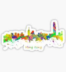 Skyline of Hong Kong Sticker
