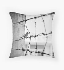 'Bird on Barbed Wire: Freedom'. S21, Tuol Sleng Prison, Phnom Penh, Cambodia Throw Pillow
