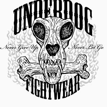 UNDERDOG skull & bone, light tee by Underdogg