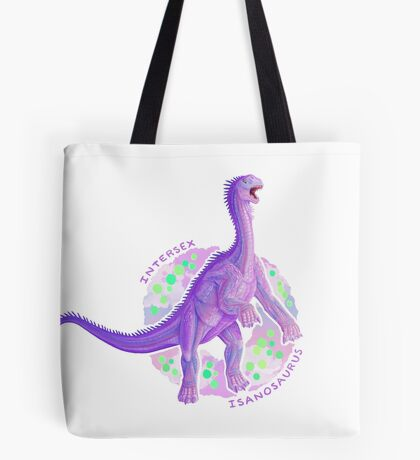 Intersex Isanosaurus (with text)  Tote Bag