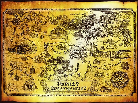 Hyrule Map Legend Of Zelda Poster By Knollgilbert