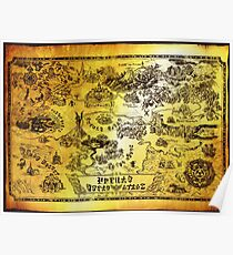 Map Of Hyrule Posters Redbubble